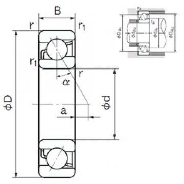 110 mm x 170 mm x 28 mm  NACHI 7022 angular contact ball bearings
