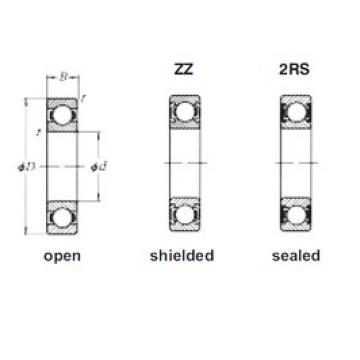 110 mm x 170 mm x 28 mm  Loyal 6022ZZ deep groove ball bearings