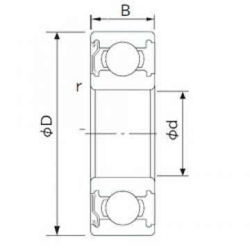 25 mm x 52 mm x 15 mm  CYSD 6205-Z deep groove ball bearings
