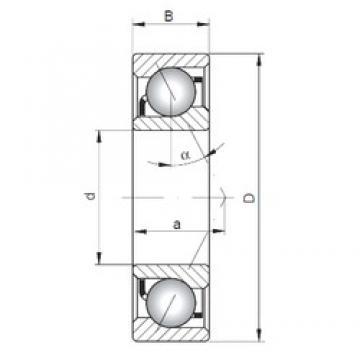 25 mm x 52 mm x 15 mm  Loyal 7205 C angular contact ball bearings