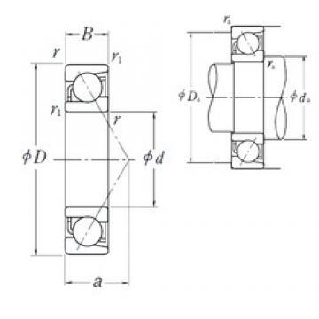 25 mm x 52 mm x 15 mm  NSK 7205 C angular contact ball bearings