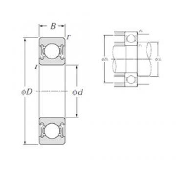 25 mm x 62 mm x 17 mm  NTN 6305LLB deep groove ball bearings