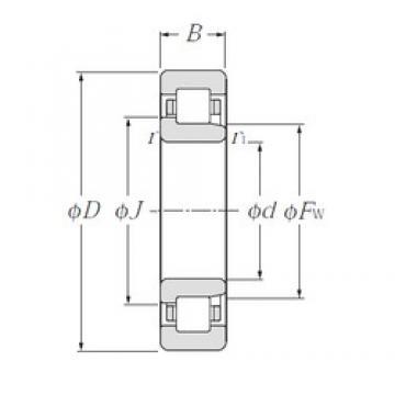 25 mm x 62 mm x 17 mm  NTN NJ305E cylindrical roller bearings