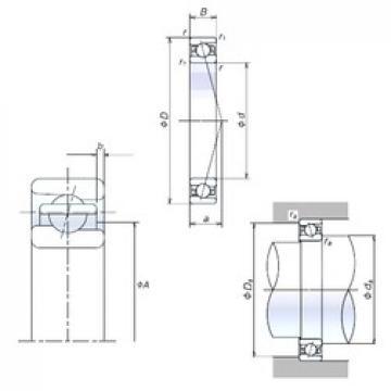 110 mm x 170 mm x 28 mm  NSK 110BER10S angular contact ball bearings