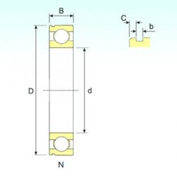 110 mm x 170 mm x 28 mm  ISB 6022 N deep groove ball bearings
