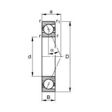 110 mm x 170 mm x 28 mm  FAG B7022-E-T-P4S angular contact ball bearings