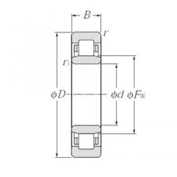 110 mm x 170 mm x 28 mm  NTN NU1022 cylindrical roller bearings