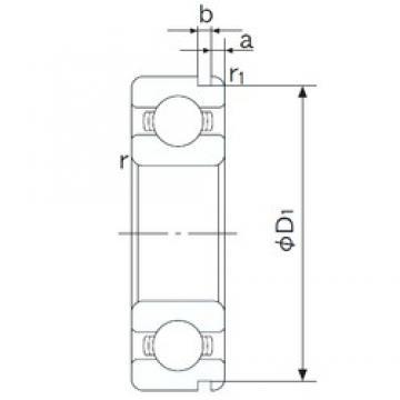 25 mm x 62 mm x 17 mm  NACHI 6305N deep groove ball bearings