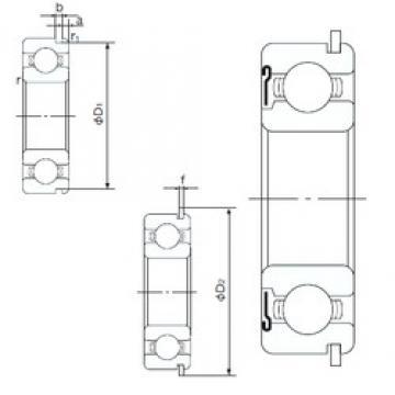110 mm x 170 mm x 28 mm  NACHI 6022ZNR deep groove ball bearings