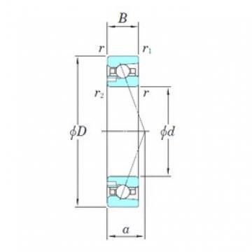 110 mm x 170 mm x 28 mm  KOYO 3NCHAD022CA angular contact ball bearings