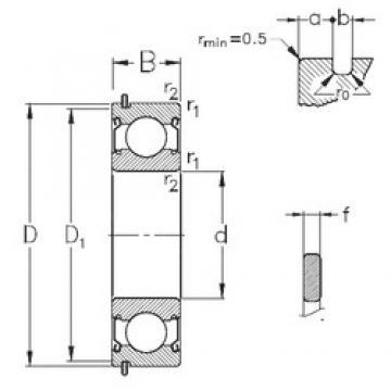 110 mm x 170 mm x 28 mm  NKE 6022-2Z-NR deep groove ball bearings