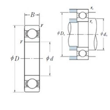 110 mm x 170 mm x 28 mm  NSK 6022 deep groove ball bearings