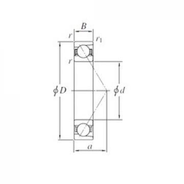 110 mm x 170 mm x 28 mm  KOYO 7022B angular contact ball bearings