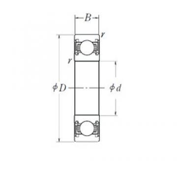 25 mm x 52 mm x 15 mm  NSK 6205DDU deep groove ball bearings