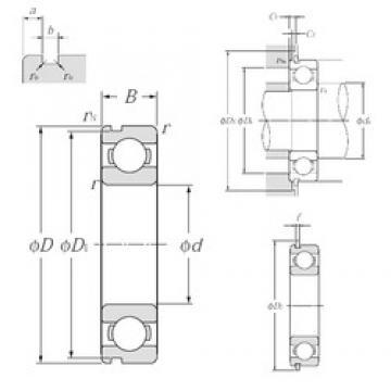 25 mm x 62 mm x 17 mm  NTN 6305NR deep groove ball bearings