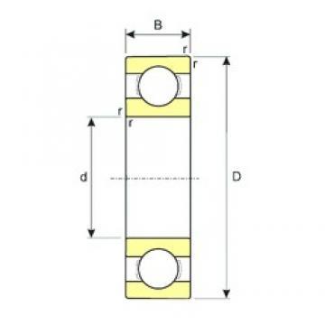 110 mm x 170 mm x 28 mm  ISB 6022 deep groove ball bearings