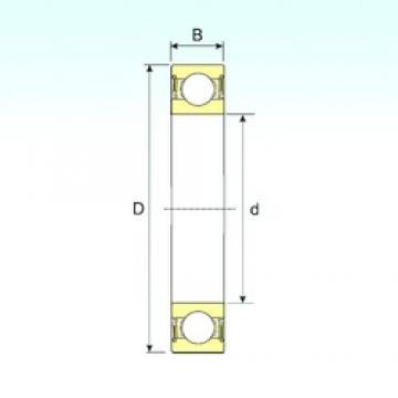 110 mm x 170 mm x 28 mm  ISB 6022-2RS deep groove ball bearings
