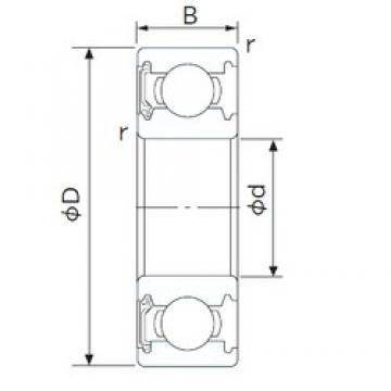 110 mm x 170 mm x 28 mm  CYSD 6022-RS deep groove ball bearings