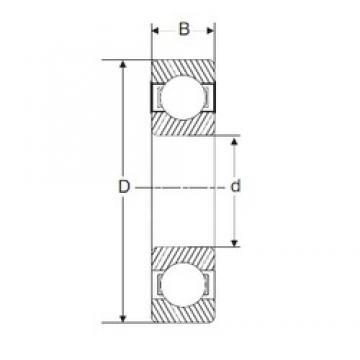 110 mm x 170 mm x 28 mm  SIGMA 6022 deep groove ball bearings