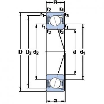 110 mm x 170 mm x 28 mm  SKF S7022 ACD/P4A angular contact ball bearings