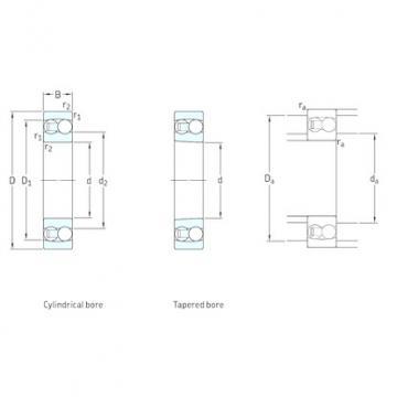 25 mm x 62 mm x 17 mm  SKF 1305ETN9 self aligning ball bearings