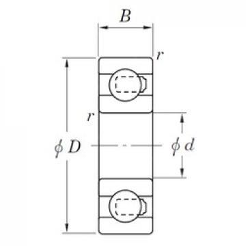 25 mm x 52 mm x 15 mm  KOYO 3NC6205MD4 deep groove ball bearings