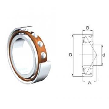 25 mm x 62 mm x 17 mm  ZEN S7305B angular contact ball bearings