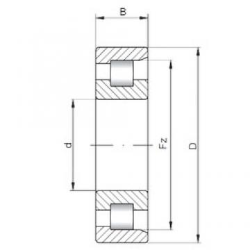 220 mm x 400 mm x 108 mm  ISO NF2244 cylindrical roller bearings