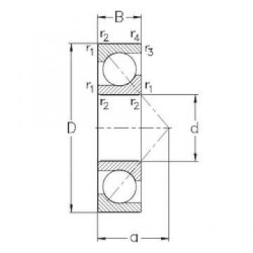 25 mm x 62 mm x 17 mm  NKE 7305-BECB-MP angular contact ball bearings