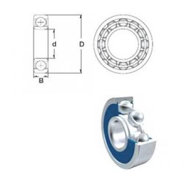 110 mm x 170 mm x 28 mm  ZEN 6022-2RS deep groove ball bearings