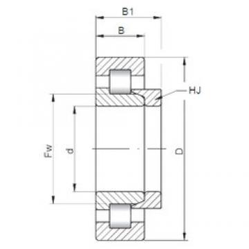 220 mm x 400 mm x 108 mm  Loyal NH2244 E cylindrical roller bearings