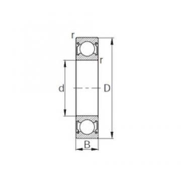 25 mm x 62 mm x 17 mm  KBC 6305ZZ deep groove ball bearings