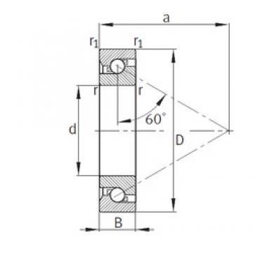 25 mm x 52 mm x 15 mm  FAG 7602025-TVP thrust ball bearings