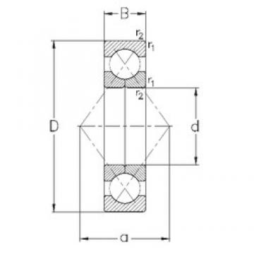 25 mm x 52 mm x 15 mm  NKE QJ205-MPA angular contact ball bearings