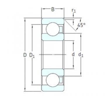 25 mm x 52 mm x 15 mm  SKF 6205/HR22Q2 deep groove ball bearings