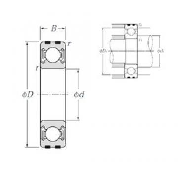 25 mm x 52 mm x 15 mm  NTN EC-6205LLB deep groove ball bearings