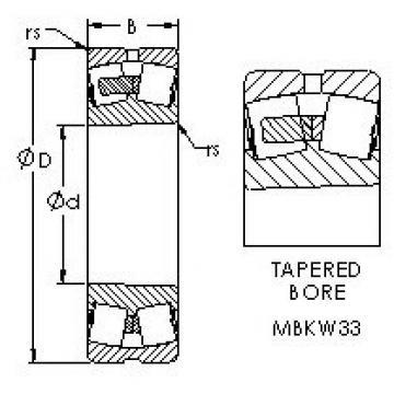 AST 22244MBKW33 spherical roller bearings