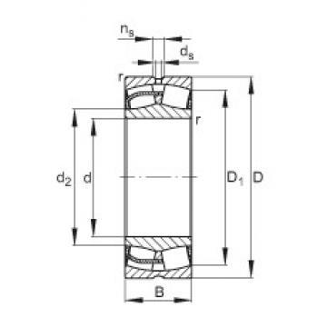 220 mm x 400 mm x 108 mm  FAG 22244-E1 spherical roller bearings