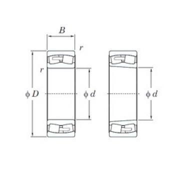 220 mm x 400 mm x 108 mm  KOYO 22244RHA spherical roller bearings