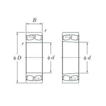 220 mm x 400 mm x 108 mm  KOYO 22244RK spherical roller bearings