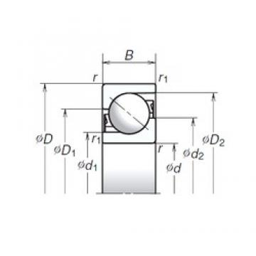 25 mm x 52 mm x 15 mm  NSK 25TAC02AT85 thrust ball bearings