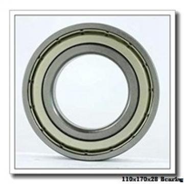 110 mm x 170 mm x 28 mm  NSK 110BER10H angular contact ball bearings