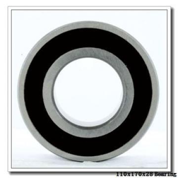 110 mm x 170 mm x 28 mm  NSK 7022A5TRSU angular contact ball bearings