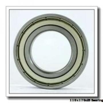 110 mm x 170 mm x 28 mm  ISO 7022 C angular contact ball bearings