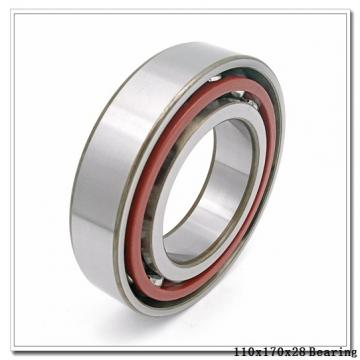 110 mm x 170 mm x 28 mm  SKF S7022 ACB/P4A angular contact ball bearings