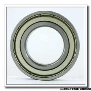 110 mm x 170 mm x 28 mm  KOYO 7022 angular contact ball bearings