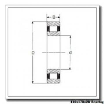 110 mm x 170 mm x 28 mm  FAG HCS7022-C-T-P4S angular contact ball bearings