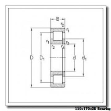 110 mm x 170 mm x 28 mm  SKF 6022NR deep groove ball bearings