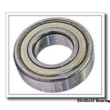 25 mm x 52 mm x 15 mm  KBC 6205DD deep groove ball bearings
