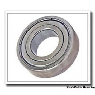 25 mm x 52 mm x 15 mm  NTN 6205LLB deep groove ball bearings
